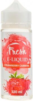 Рідина для електронних сигарет Fresh Strawberry Carnival (Полуниця з вершками)