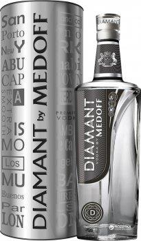 Водка Medoff Diamant 0.7 л 40% в тубусе (4820179281354)