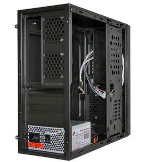 Корпус ProLogix M03/031R Black/Red PSMS-400-8cm; MicroATX/ITX, 1 hdd, 2 sata