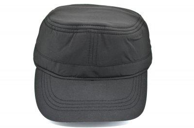 Утеплённая немка K-Option 56-58 см чёрная с флисовой подкладкой (С 0919-364)