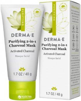 Детокс очищающая угольная маска Derma E 2-в-1 48 г (030985012200)