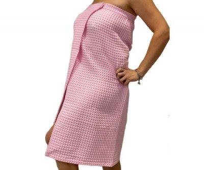 Парео для сауны женское 90х150 см (100%хлопок) цвет розовый 149630