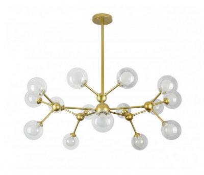 Люстра Лофт Молекула 15 Плафонів 150Вт Levistella 7526083-15 Gd Золотий