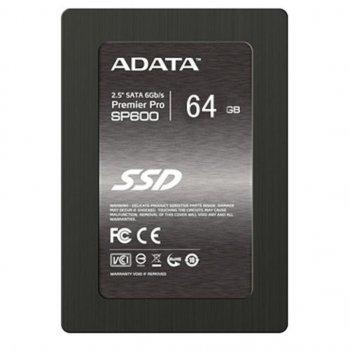 """Накопичувач SSD 2.5"""" 64GB ADATA A6661"""