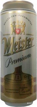 Упаковка пива Meister Premium светлое фильтрованное 5% 0.5 л x 24 шт (4770301230159)