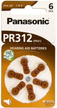 Батарейка Panasonic PR-312 BLI 6 (PR-312/6LB)