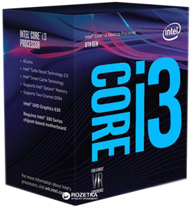 Процесор Intel Core i3-8100 3.6 GHz/8GT/s/6MB (BX80684I38100) s1151 BOX