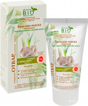 Бальзам-маска Pharma Bio Laboratory Чесночная для укрепления и роста волос 150 мл (4823080003374)