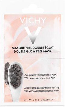 Минеральная маска-пилинг Vichy двойной блеск для кожи лица 2 х 6 мл (3337875533768)