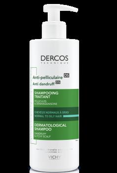 Шампунь Vichy Dercos усиленного действия против перхоти для жирных волос и раздраженной кожи головы 390 мл (3337871331290)