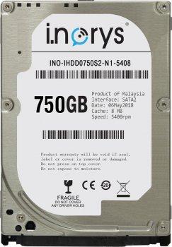 Жорсткий диск i.norys 750GB INO-IHDD0750S2-N1-5408 5400rpm 8MB 2.5 SATA II