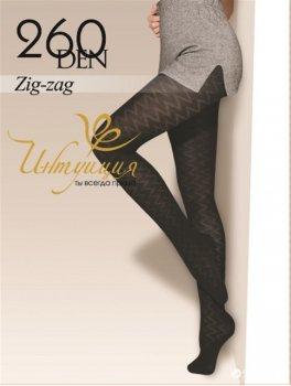 Колготки Intuicia Zig-Zag 260 Den Black