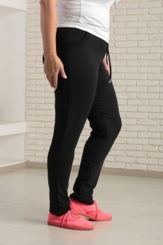 Жіночі спортивні штани двонитка Zeta-m (73) розмір чорний