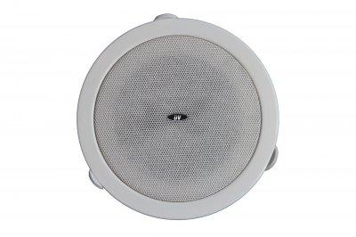 """Потолочный динамик с трансформатором DV audio 4"""" белый (C-84)"""