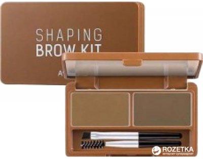 Гелевий набір A'pieu Shaping Brow Gel Kit для макіяжу брів Світло-коричневий 5 г (8806185755528)