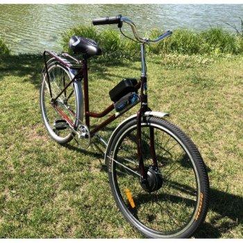 Электровелосипед Украина Плюс Mb-36-500 28 Дюймов Бордовый