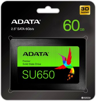 "ADATA Ultimate SU650 60GB 2.5"" SATA III 3D NAND TLC (ASU650SS-60GT-R)"