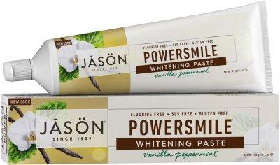Зубная паста Jason отбеливающая без фтора Ваниль-Мята 170 г (078522618478)