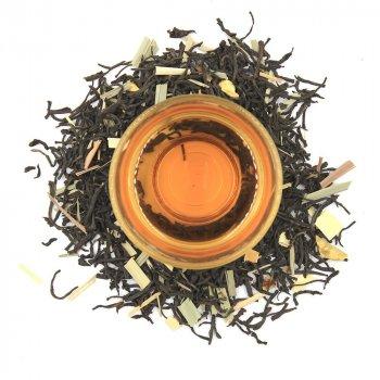 Черный ароматизированный чай Teahouse Лимонная зебра, 250 гр