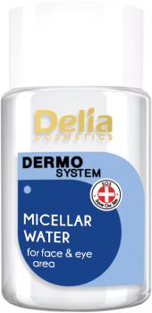 Міцелярна рідина Delia cosmetics Dermo System для обличчя та очей 50 мл (5901350445976)
