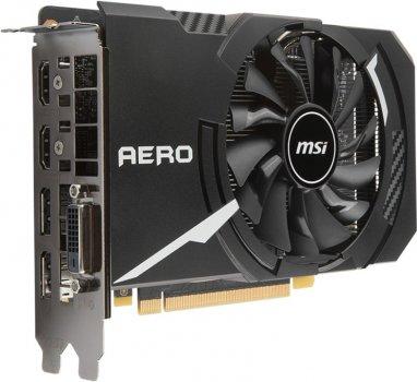 MSI PCI-Ex GeForce GTX 1060 Aero ITX OC 6GB GDDR5 (192bit) (1544/8008) (DVI, 2 x HDMI, 2 x DisplayPort) (GTX 1060 AERO ITX 6G)