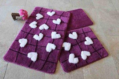 Килимок для ванної Chilai Home Kalbim Purple 60 × 100 см
