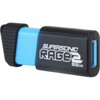 USB флеш накопичувач 512Gb Patriot Supersonic Rage 2 (PEF512GSR2USB) Black/Blue