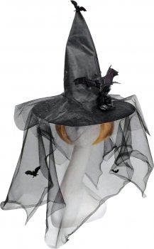 Колпак Seta Decor 18-991BLK Ведьмочка с летучей мышью Черный (2000047213010)