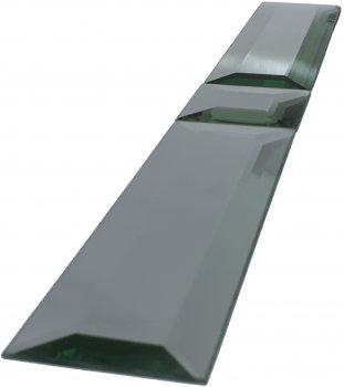 Зеркальная плитка UMT 60х500 мм фриз с фацетом 15 мм серебро (ПФС 60-500)