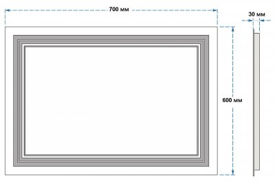 Зеркало UMT SLD 07 700х600 мм LED (SLD 07 700-600)