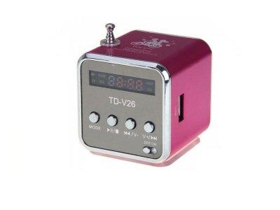 Портативная колонка Digital TD-V26 c Fm-радио/micro SD/TF/ USB Красный (1001-276-07)