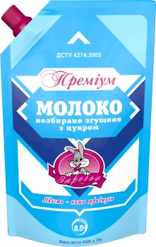Молоко сгущенное цельное Заречье Премиум с сахаром 8.5% 450 г (4820001074192_1)