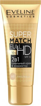 Тональный крем-корректор Eveline Super Match Full HD 2в1 №60 Pastelle 30 мл (5901761939286)
