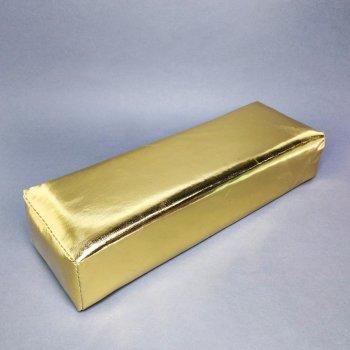 Подлокотник для маникюра кожзам золото