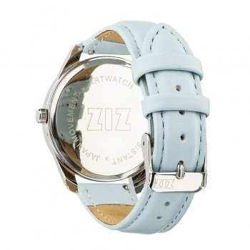 Годинники наручні Ziz Мінімалізм ремінець ніжно-блакитний срібло і додатковий ремінець PPU-142858