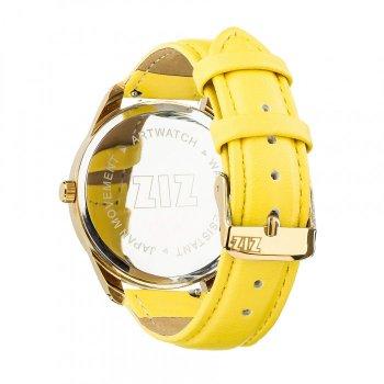 Часы наручные Ziz Минимализм черный ремешок лимонно-желтый золото и дополнительный ремешок PPU-142887