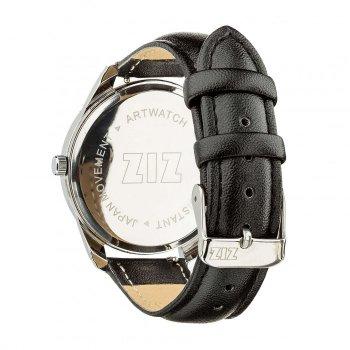 Часы наручные Ziz Лондонский вокзал ремешок насыщенно-черный серебро и дополнительный ремешок PPU-142619