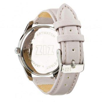 Годинники наручні Ziz Мінімалізм ремінець світло-лавандовий срібло і додатковий ремінець PPU-142855
