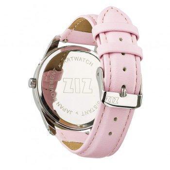 Годинники наручні Ziz Мінімалізм ремінець пудрово-рожевий срібло і додатковий ремінець PPU-142859