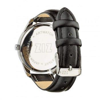 Годинники наручні Ziz Мінімалізм ремінець насичено-чорний срібло і додатковий ремінець PPU-142849