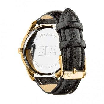 Годинники наручні Ziz Мінімалізм чорний ремінець насичено-чорний золото і додатковий ремінець PPU-142885