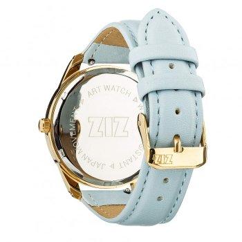 Годинники наручні Ziz Мінімалізм ремінець ніжно-блакитний золото і додатковий ремінець PPU-142876