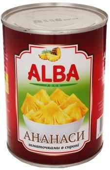 Ананасы Alba Food кусочками в сиропе 580 мл (8858871805116)