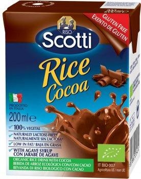 Рисовое молоко Riso Scotti органическое с какао 200 мл (8001860235474)
