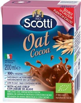Овсяное молоко Riso Scotti органическое с какао и кальцием 200 мл (8001860228063)