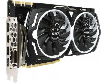 MSI PCI-Ex GeForce GTX 1080 Armor 8GB GDDR5X (256bit) (1657/10010) (DVI, HDMI, 3 x DisplayPort) (GTX 1080 ARMOR)