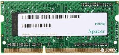 Оперативная память Apacer SODIMM DDR3-1600 8192MB PC3-12800 (DV.08G2K.KAM)