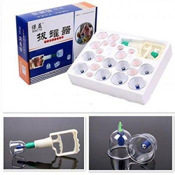 Массажные антицеллюлитные вакуумные банки BAO YI-24