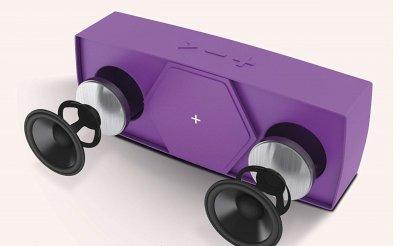 Портативна колонка TecPlus Geo Mini Bluetooth Фіолетова