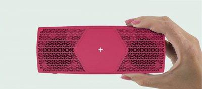Портативна колонка TecPlus Geo Mini Bluetooth Рожева
